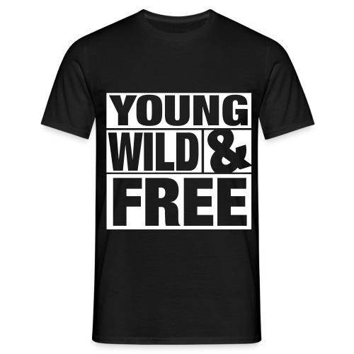 Young Wild & Free - Männer T-Shirt