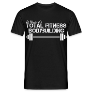 T-Shirts ~ Men's T-Shirt ~ Total Fitness Bodybuilding Barbell Classic-Cut T-shirt