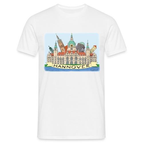 Hannover Souvenir Comic Sommer T-Shirt  - Männer T-Shirt