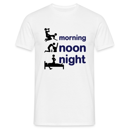 Morning noon night - Men's T-Shirt