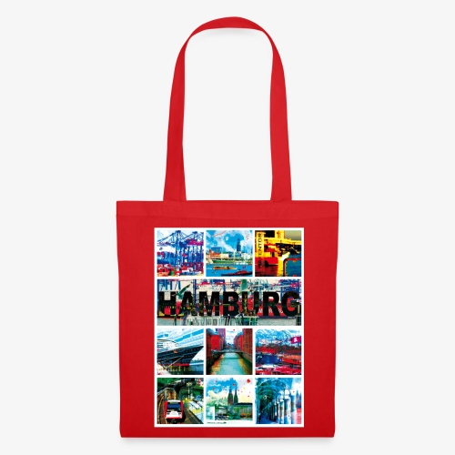 Hamburg Collage 04 Hansestadt Andenken Geschenk Tr - Stoffbeutel
