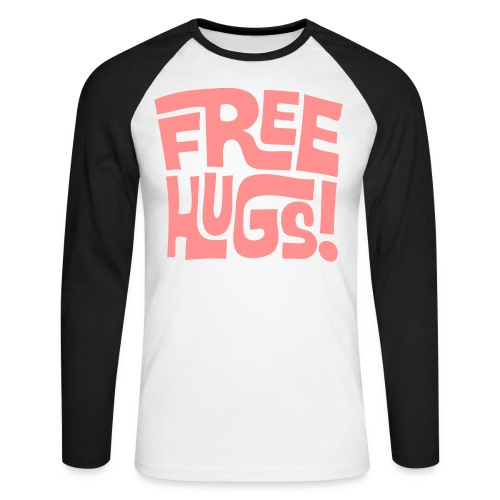 Free Hugs! - Men's Long Sleeve Baseball T-Shirt