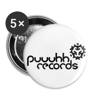 Buttons puuuhh records 32 mm - Buttons mittel 32 mm