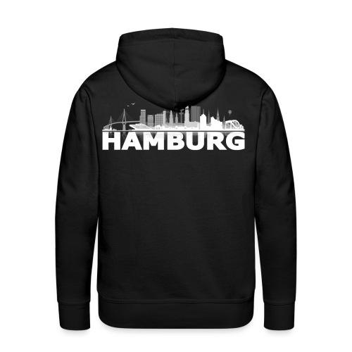 Hamburg city / skyline herren - Männer Premium Hoodie