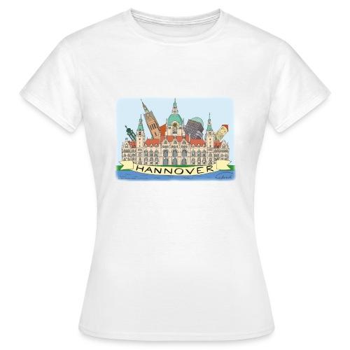 Hannover Souvenir Comic Sommer T-Shirt für Frauen  - Frauen T-Shirt