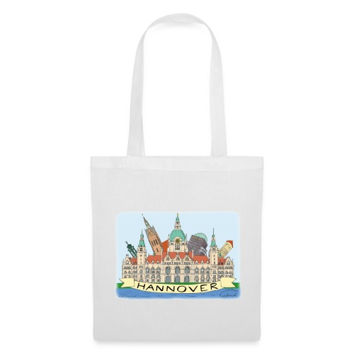 Hannover Souvenir Comic Sommer Tasche einseitig bedruckt #Hannover - Stoffbeutel