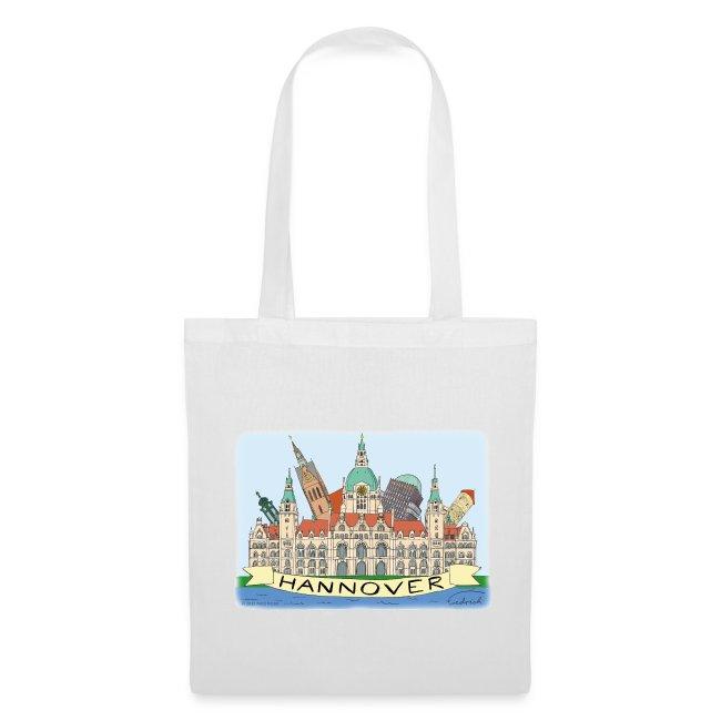 Hannover Souvenir Comic Sommer Tasche einseitig bedruckt #Hannover