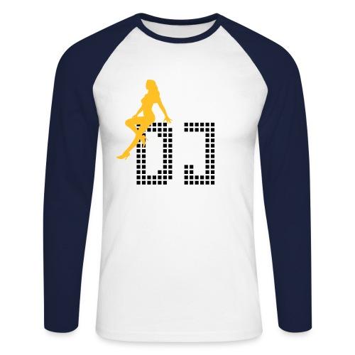 Baseball-Shirt Manches longues 'DJ' - T-shirt baseball manches longues Homme