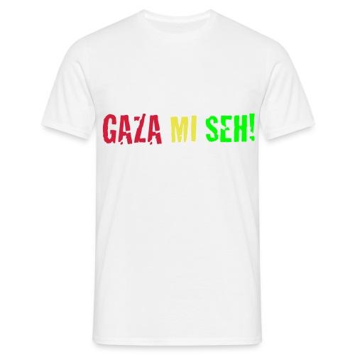 GAZA MI SEH!  - Männer T-Shirt