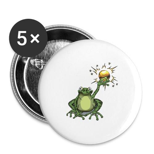 Button Froschkönig - Buttons groß 56 mm (5er Pack)