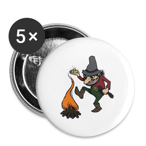 Button Rumpelstilzchen - Buttons groß 56 mm (5er Pack)