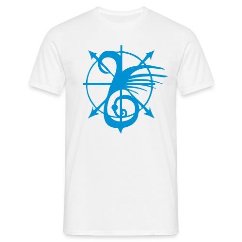 Tshirt blanc motif eau - T-shirt Homme