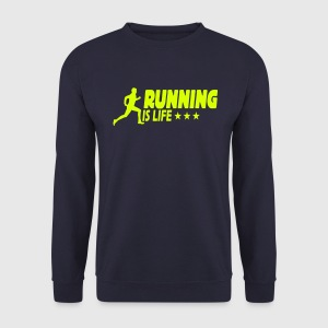 running is life male ii 1c Pullover & Hoodies - Männer Pullover