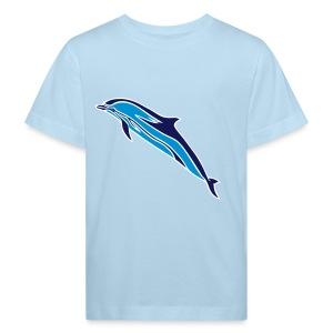 Oceano Kinder Bio Streifendelfin - Kinder Bio-T-Shirt