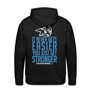 It never gets easier | Mens Hoodie - Men's Premium Hoodie