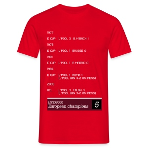 TV Ticker - Liverpool - Men's T-Shirt