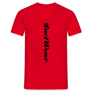 LuciWear Casual Style Red & Black - Mannen T-shirt