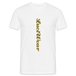 LuciWear Casual Style White & Gold Metallic - Mannen T-shirt