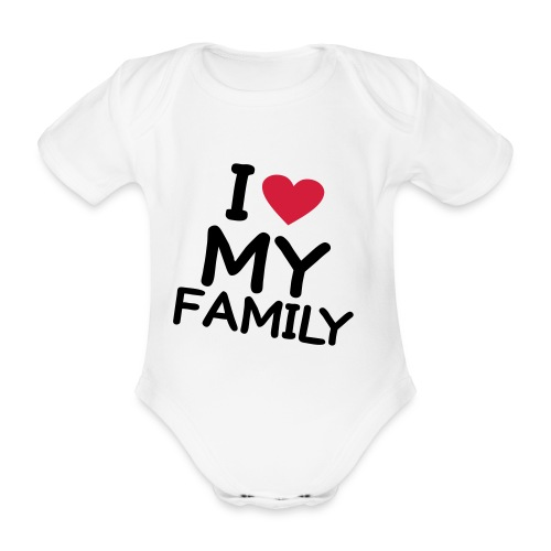 Amo la mia famiglia - Body ecologico per neonato a manica corta