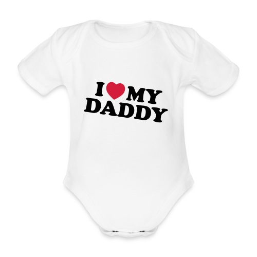 Amo il mio papà - Body ecologico per neonato a manica corta