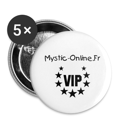 Lot de 5 petits badges (25 mm)