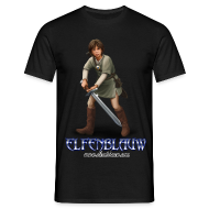 T-shirts ~ Mannen T-shirt ~ T-shirt Elfenblauw