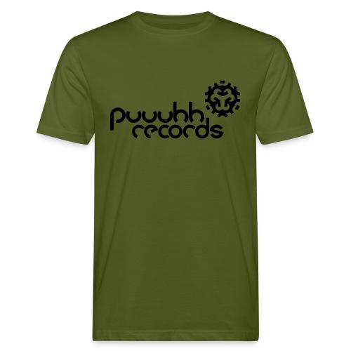 Männer T-Shirt klimaneutral puuuhh - schwarze Schrift - Männer Bio-T-Shirt