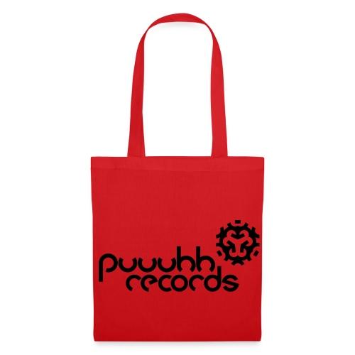 Stofftasche puuuhh records - schwarze Schrift - Stoffbeutel