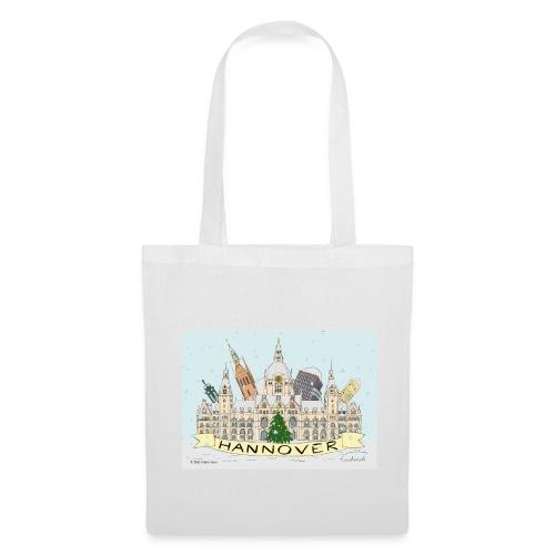 Hannover Souvenir Weihnachten Winter Comic Tasche einseitig bedruckt  - Stoffbeutel