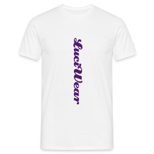 LuciWear Casual Style White & Purple - Mannen T-shirt