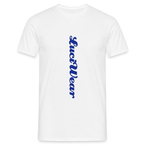 LuciWear Casual Style White & Blue - Mannen T-shirt