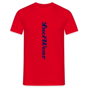 LuciWear Casual Style Red & Navy - Mannen T-shirt