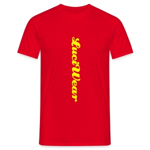 LuciWear Casual Style Red & Yellow - Mannen T-shirt