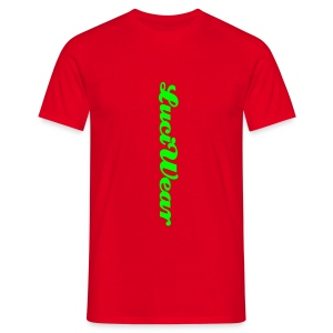 LuciWear Casual Style Red & Neon Green - Mannen T-shirt