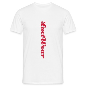 LuciWear Casual Style White & Red - Mannen T-shirt