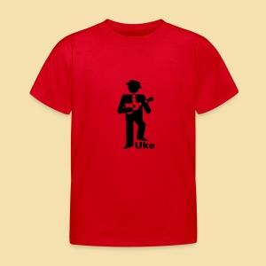 Kidshirt: Uke Player (Motiv:schwarz) - Kinder T-Shirt
