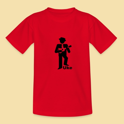 Kidshirt: Uke Player (Motiv:schwarz) - Kinder T-Shirt