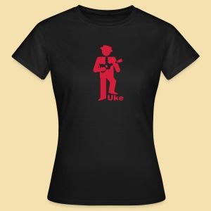 Girlshirt: Uke Player (Motiv:rot) - Frauen T-Shirt