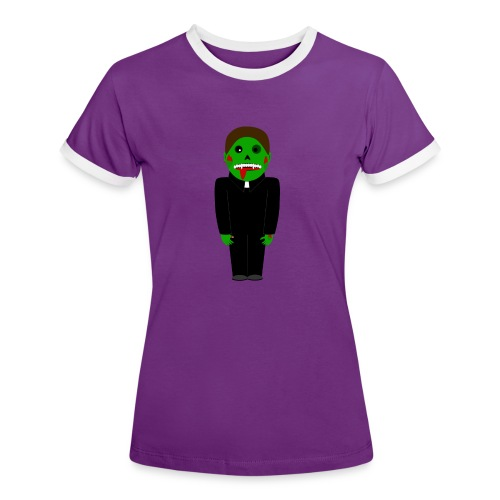 Zombie Vampire Priest T-Shirt - Frauen Kontrast-T-Shirt