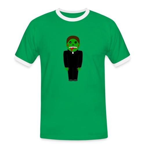 Zombie Vampire Priest T-Shirt - Männer Kontrast-T-Shirt