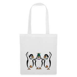 Penguin Trio Tote Bag - Tote Bag