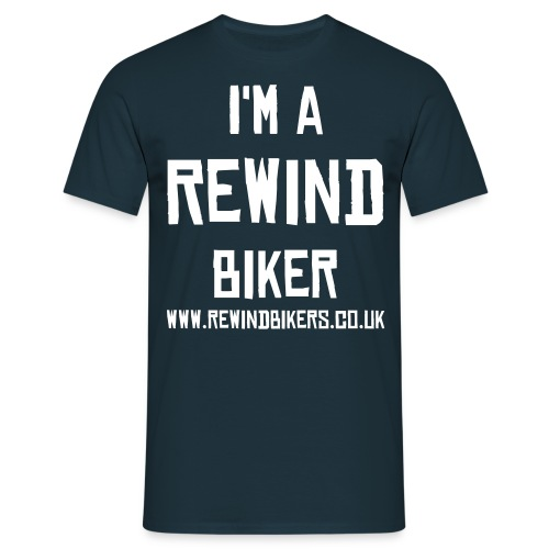 Rewind Men's Classic T-Shirt (Navy) - Men's T-Shirt