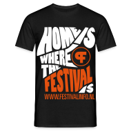 T-shirts ~ Mannen T-shirt ~ Home is a festival (male)