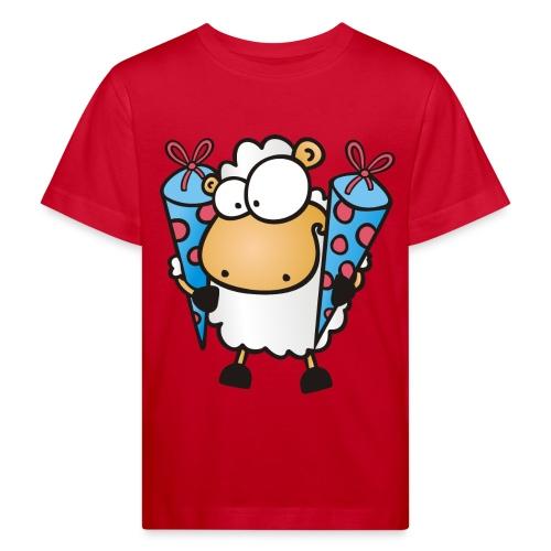 Schulanfang Schaf mit Zuckertüten Kinder T-Shirt - Kinder Bio-T-Shirt