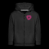 Pullover & Hoodies ~ Kinder Premium Kapuzenjacke ~ Kinder Kapuzenjacke mit Glitzer-Druck
