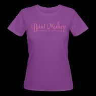 T-Shirts ~ Frauen Bio-T-Shirt ~ Bio-Shirt mit Glitzerdruck, lila