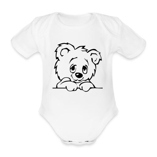 Bären Body - Baby Bio-Kurzarm-Body