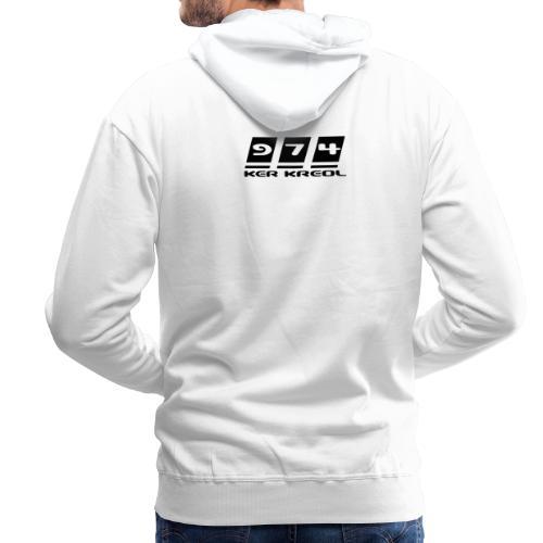 Sweat-shirt à capuche Homme 974 Ker Kreol Nation  - Sweat-shirt à capuche Premium pour hommes