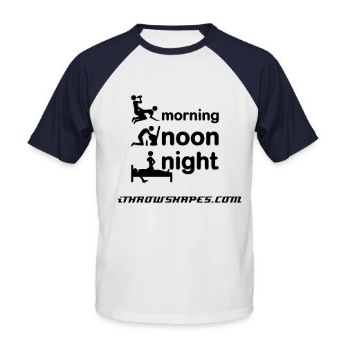 MORNING NOON AND NIGHT TWO-TONED TEE - Men's Baseball T-Shirt