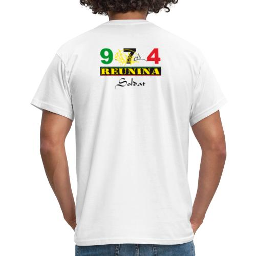 Tee shirt manches longues Homme 974 Ker Kreol Nation rasta - T-shirt Homme